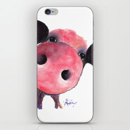 Nosey Pig ' CLARENCE ' by Shirley MacArthur iPhone Skin