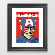 This Is Not America Framed Art Print