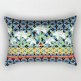 Elizabethan Folkloric Lily Rectangular Pillow