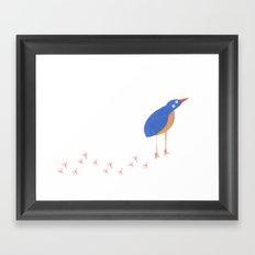 Bird leaving a trail Framed Art Print