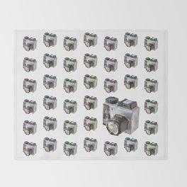 Paper Camera Throw Blanket