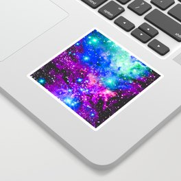 Fox Fur Nebula Galaxy Pink Purple Blue Sticker