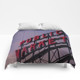 Pike Place Neon Sunrise Comforters