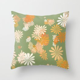 exploding flowers Throw Pillow