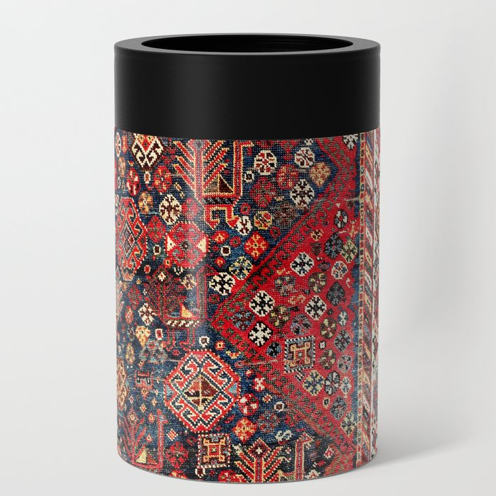 Qashqa'i Fars Southwest Persian Nomad Rug Print Can Cooler