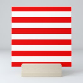 Stripe Red White Mini Art Print