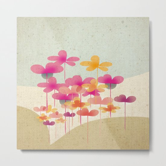 FlowerHill Metal Print