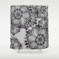 gray Shower Curtains featuring Gray  by rskinner1122