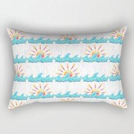 Sunrise Surf Rectangular Pillow