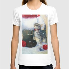 Kitten at Santa's Boot T-shirt