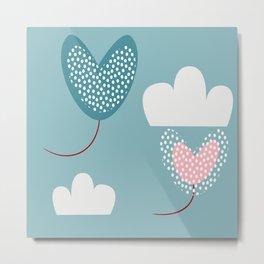 valentine ballons Metal Print