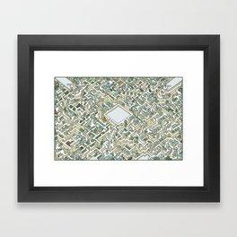 Last Dance Maze Framed Art Print