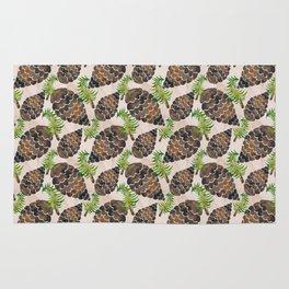 Watercolor Pine Cone Pattern Rug