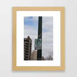 2h Parking Framed Art Print