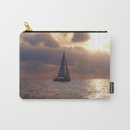 Yacht At Dusk Carry-All Pouch