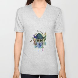 WOLF WATERCOLOR Unisex V-Neck