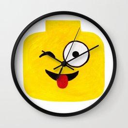 Winking Smile - Emoji Minifigure Painting Wall Clock