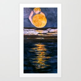 Moon Maiden's Light Art Print