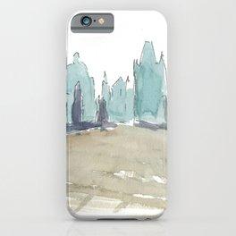 Charles Bridge Prague Lonely Silhouette iPhone Case