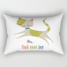 Find Your Joy Cat and Mouse Rectangular Pillow