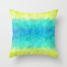 Sunflower and Ice Abstract Throw Pillow