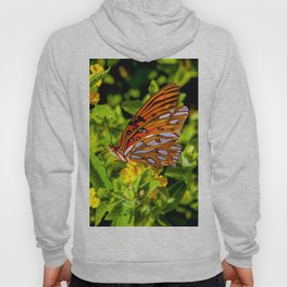 Monarch Butterfly Sitting on a Leaf Hoody