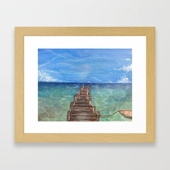 Infinity Pier Framed Art Print