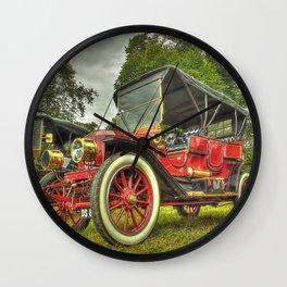 Stanley Steam Car Wall Clock