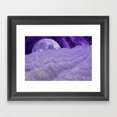LAVENDER MOON Framed Art Print
