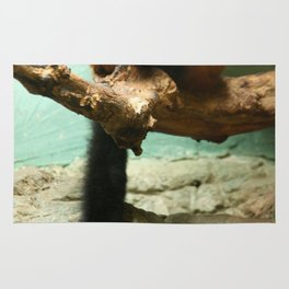 Sleeping Monkey Photography Print Rug