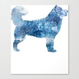 Alaskan Malamute Winter Frost Canvas Print
