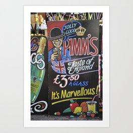 Pimm's Art Print