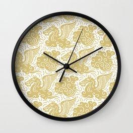 Pegasus Pattern Gold Wall Clock