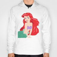ariel Hoodies featuring Ariel by Lauren Lee Design's
