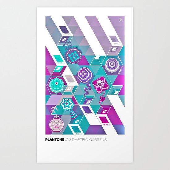 PLANTONE // Isometric Gardens Art Print