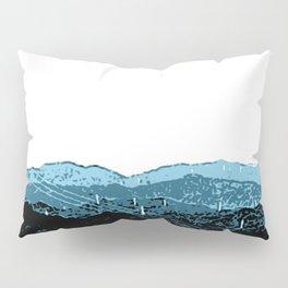 Powerlines in Japan - minimalist mountains Pillow Sham