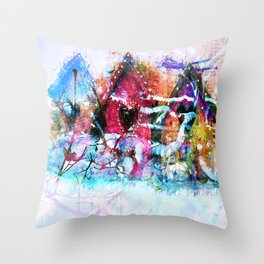 A Home For All Seasons Throw Pillow