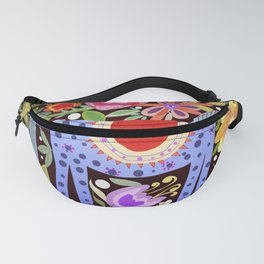 Folk art horse with flowers Fanny Pack