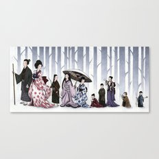Family Stroll Canvas Print