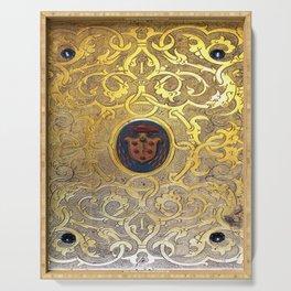 Golden Swirls Book Serving Tray