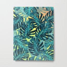 Composition tropical leaves XIV Metal Print