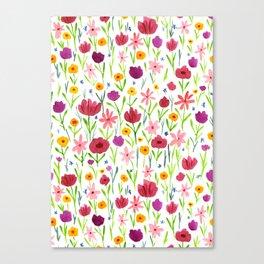 Flowerfield Canvas Print