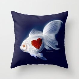 Fishy Knows It Best Throw Pillow