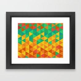 Triangles fun Framed Art Print