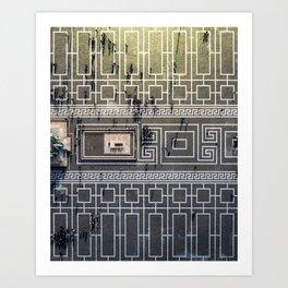 Lines & Shadows Art Print