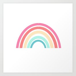 Rainbow art print perfect for kids room decor nursery art Art Print