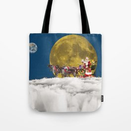 Santa and His Sleigh Tote Bag