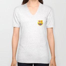 barcelona logo Unisex V-Neck