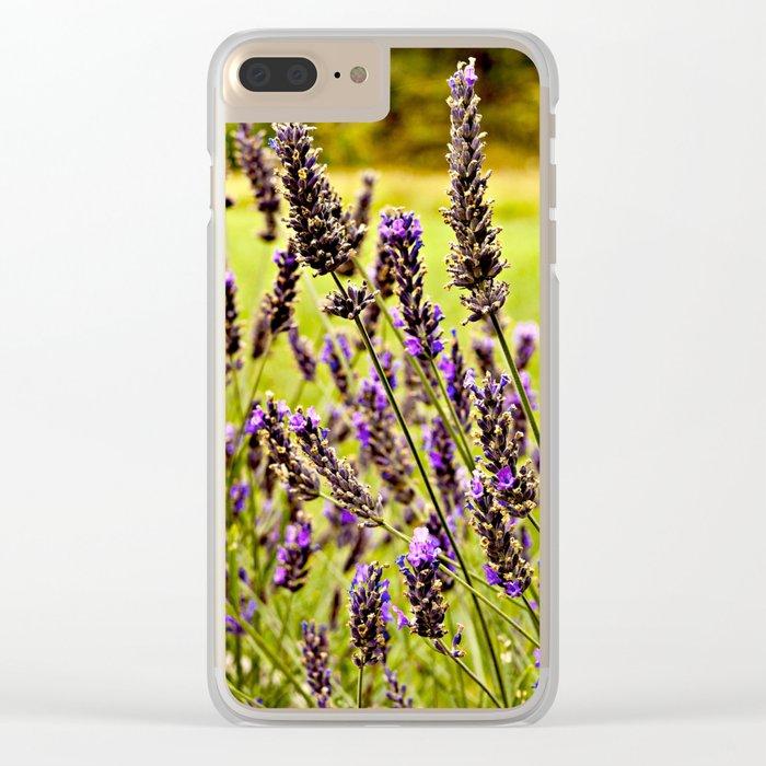 Magic Lavender Clear iPhone Case