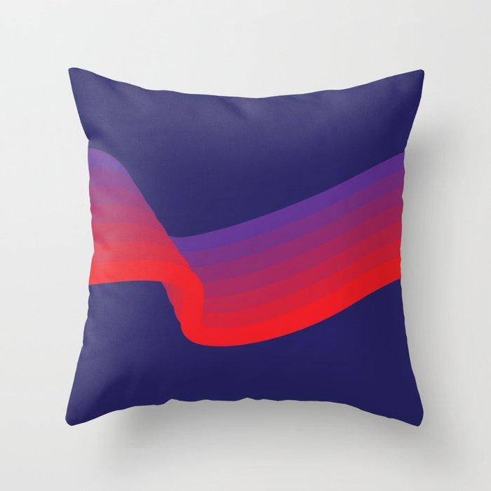 Amethyst Wave Throw Pillow